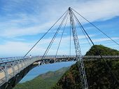 picture of langkawi  - Famous hanging bridge of Langkawi island - JPG