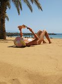 Beach scene. Playa Teresitas. Tenerife, Canaries