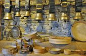 Traditional Swiss cow bells