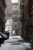Alley In Snow