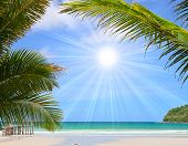 foto of summer beach  - Beautiful tropical beach in the Islands - JPG