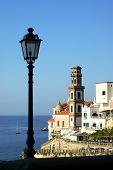 foto of salvatore  - Atrani belltower church of Santissimo Salvatore of Birecto  Bireto lamp - JPG