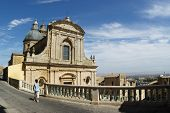Caltagirone tourist and church of Santa Maria del Monte