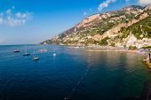 Panorama of the bay and the village of Amalfi