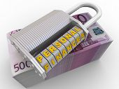 Personal Finances Are Protected. Combination Lock (wordlock) With Letters Personal Finances On A Pac poster