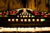 picture of luminaria  - the illuminate staircase of Caltagirone - JPG
