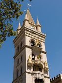 bell tower cathedral's town of Messina