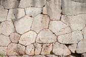 Cyclopean wall of oracle Delphi - Greece - characterized by the use of massive stones of irregular