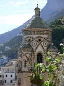 the bell tower of cathedral in Amalfi