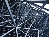 Steel Construction Metal Frame Pattern Architecture Detail Background poster