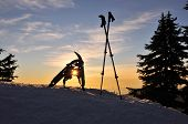 Snowshoe Grind Sunset