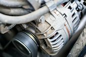The Car Engine, Engine Compartment, Car Engine Background poster