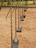 picture of swingset  - Empty swing sets - JPG