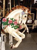 Horse carousel portrait