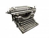 Vintage typewriter in gray