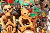 Two sitting skeletons