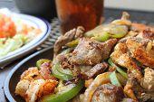 image of mexican food  - Mexican fajitas - JPG