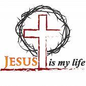 Biblical Inscriptions. Christian Art. Jesus. Christian Logo poster
