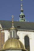 Spires And Dome At Wawel In Krakow
