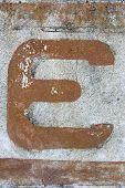 Painted Letter On Wall, Letter E, Letter E poster