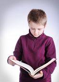 School kid reading