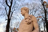 Statue Of Antinous In Summer Garden At Evening, St.petersburg, Russia. Greek Youth, The Favourite An poster