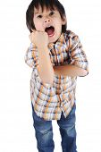 rude kid shouting