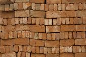 A Stacked Red Bricks With Rough Roughness poster