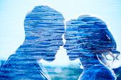 Man And Woman Love And Hugs, Close Relationship And Love, Perfect Couple Double Exposure Photo. Coup poster