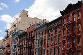 Urban tenements in Manhattan's Lower East side.