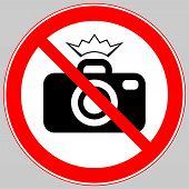 No Flash Photography, No Flash Sign, No Photo And Flash Sign poster