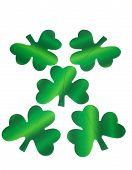 Five Paper Shamrocks