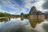die historischen Matsumoto Burg aus dem 15. Jahrhundert in Matsumoto, Japan.
