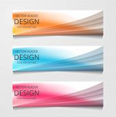 Vector Abstract Web Banner Design Template. Collection Of Web Banner Template. Abstract Geometric We poster