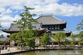 Exterior of Todai-ji Temple, the world's largest wooden building and a UNESCO World Heritage Site in