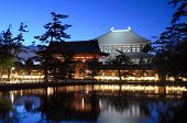 Exterior of Todaiji, the world's largest wooden building and a UNESCO World Heritage Site in Nara, Japan.