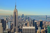 View of midtown Manhattan with landmark buildings in New York City. poster