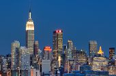 NEW YORK CITY - AUGUST 24: Landmark buildings including New Yorker Hotel and Empire State Building A