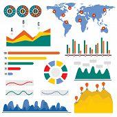 Visualization Infographic. Flat Illustration Of Visualization Infographic For Web Design poster