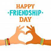 Friendship Day Concept Background. Flat Illustration Of Friendship Day Concept Background For Web De poster