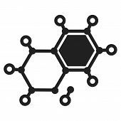 Chemical Element Molecule Icon. Simple Illustration Of Chemical Element Molecule Icon For Web Design poster