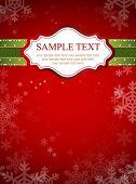 Diseño de marco rojo para tarjeta de Navidad