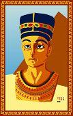 Statue of Egyptian Pharaoh. Vector illustration