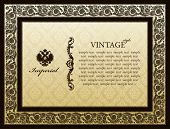 Imperial ornament framework decorative vintage - vector abstract background
