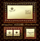 Glamour vintage gold frame decorative ornament. Vector illustration