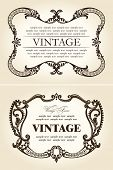 vintage beige abstract frames ornament. vector illustration