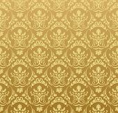 seamless Wallpaper background floralen Vintage gold Vektor