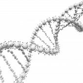 Dna Chain. Abstract Scientific Background. Beautiful Illustraion. Biotechnology, Biochemistry, Genet poster