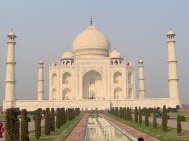 stock photo of mumtaj  - The Taj Mahal in Agra Uttar Pradesh India. Built by Emperor Shah Jahan. - JPG