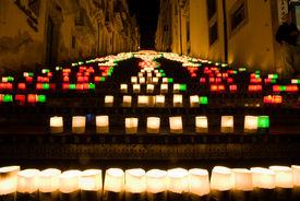 image of luminaria  - the illuminate staircase of Caltagirone - JPG